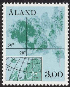 "Åland 3mk 1984 ""Map of Åland"" [Facit 5, Mi 5, AFA 5, YT 5, SG 12, SC 17]"