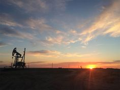 Near The Caspian Sea In Western Kazakstan - Awesome sunset around the Oktyabrskoye oilfield. This field is unusual and unique with oil resources. - Oilpro.com