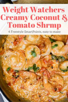 This shrimp dish is ready in just 20 minutes and has only 4 Weight Watchers Freestyle SmartPoints. It's so good! #weightwatchers #wwpoints #weightwatchersrecipes #shrimp #lowcarb