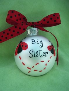 "Adorable! This would be easily painted. I think a baseball, football, etc. would be cute done for a ""Big Brother"". I would add the year and name on the other side."