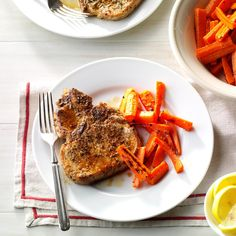 Herbed Lemon Pork Chops Recipe -Expect to get plenty of compliments on these fast, flavor-packed chops. They're tender and juicy. —Billi Jo Sylvester, New Smyrna Beach, Florida