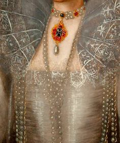 Marcus Gheeraerts the Younger, Detail from Portrait of Queen Elizabeth