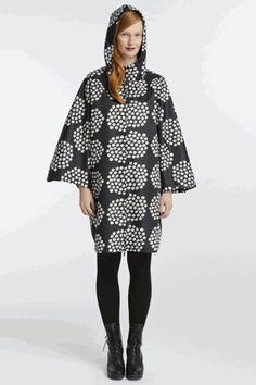 Looking for a stylin' rain poncho. Marimekko qualifies.