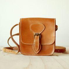 Vintage Rustic Brown Leather Purse - Boho Retro. $14.00, via Etsy.