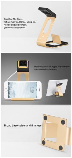 HOCO Aluminum Alloy Charging Stand Holder For Apple Watch iPhone 7/7 Plus iPad Pro 12.9 iPad Mini