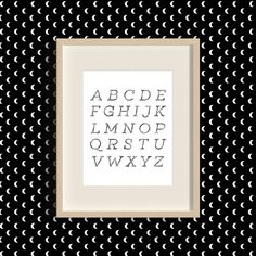Alphabet Minimal Free Art Printable • Little Gold PixelLittle Gold Pixel