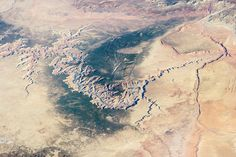 No this isn't from Google Earth. This is the Grand Canyon taken from the Internation Space Station on 25 March 2014. [1440 x 960]