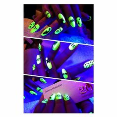 Neon nails. Love them!