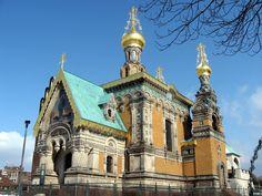 Russian Orthodox Church in Mathildenhöhe - Darmstadt, Germany by Friedensreich Hundertwasser, an Austrian Architect - Photo by Patrick Vacek
