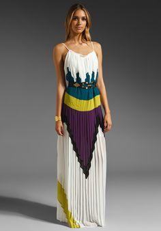 BCBGMAXAZRIA Long Runway Dress in Talc Multi at Revolve Clothing