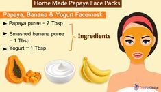 10 Easy Home-Made Papaya Face Packs to Eliminate All Your Skin Woes Papaya Face Pack, Papaya Facial, Yogurt Face Mask, Banana Face Mask, Papaya Benefits, Dry Scaly Skin, Aloe Vera For Face, Mask For Dry Skin, Best Face Products