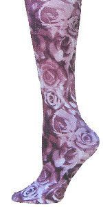 Burgundy Roses Trouser Socks