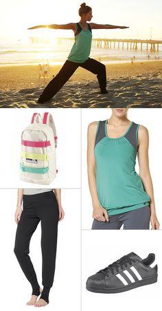 Der coole Rucksack ist das heimliche Highlight dieses Sport-Looks – das schicke Teil wurde in Kooperation mit der Modedesignerin Stella McCartney für Adidas Performance designt. Dazu passen die eher zurückhaltenden Styles von Ocean Sportswear einfach perfekt.