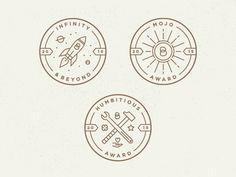 Award Badges designed by Brett Swihart. the global community for designers and creative professionals. Typo Logo, Logo Branding, Logo Design Inspiration, Icon Design, Design Design, Employee Awards, Wings Icon, Badge Icon, Logo Shapes
