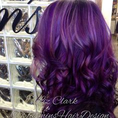Purple dimensional goddess hair #jasminshairdesign