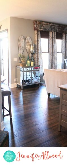 Replacing Golden Oak Hardwood Floors with new beautiful gray/brown hardwood floors for a total house makeover | Magic Brush | Hardwood Flooring Ideas and Hardwood Floor Colors