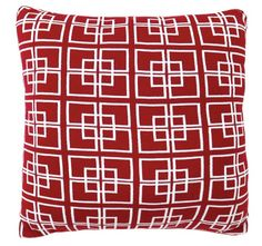 Delta Knit 50x50cm Filled Cushion Red | Manchester Warehouse