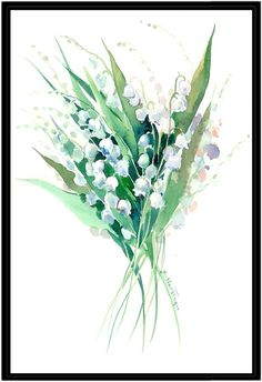 Americanflat Lilies of the Valley Suren 1 by Suren Nersisyan (Framed Canvas)