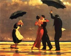 Jack Vettriano The Singing Butler painting is shipped worldwide,including stretched canvas and framed art.This Jack Vettriano The Singing Butler painting is available at custom size. Jack Vettriano, Rain Dance, Dancing In The Rain, Dancing Couple, People Dancing, The Singing Butler, Art Amour, Albrecht Durer, Gustav Klimt