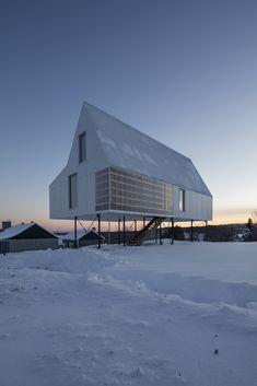 A Minimalist Winter Chalet Stands Tall on Stilts - Dwell