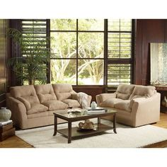 Cindy Crawford Home Midtown East Pearl Leather 3 Pc Living Room Pinterest Leather Living