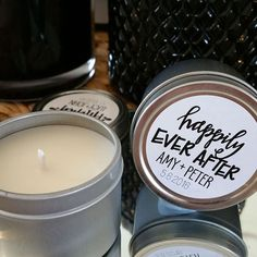 Our wedding favor candles are the perfect way to thank your guests for sharing your special day. Our candles are handmade in Sydney, Australia using premium soy wax and premium fragrant oils. They are 100% dye free and have a burn time of approximately 23 hours.  CANDLE INFORMATION - - approx. 23 hour burn time - 2oz reusable silver travel tin - with scent label - 5cm wide : 4cm high - natural pure premium soy wax, dye free & cotton wick  ~~~~~~~~~~~~~~~~~~~~~~~~~~~~~~~~~~~~~~~~~~~~~~~~~~...