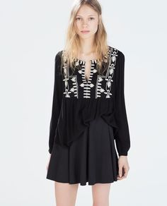 ZARA - WOMAN - EMBROIDERED TOP