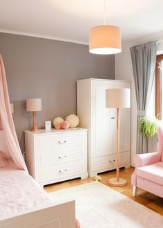 pink rooms Little Girl Fashion, My Little Girl, Pink Room, Dresser As Nightstand, Home Renovation, Playroom, Girl Outfits, Room Decor, Table