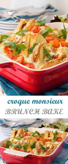 Croque monsieur brunch bake - perfect for over the holidays!