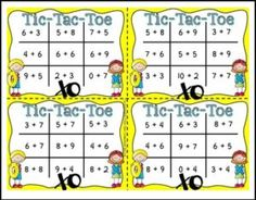 """FREE MATH LESSON – """"FREE: Tic Tac Toe Addition Facts Task Card Game"""" - Go to The Best of Teacher Entrepreneurs for this and hundreds of free lessons. Kindergarten - 2nd Grade  http://thebestofteacherentrepreneursmarketingcooperative.net/free-math-lesson-free-tic-tac-toe-addition-facts-task-card-game/"""
