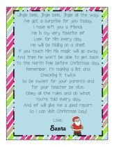 Elf on the Shelf Santa Letter - FREEBIE!