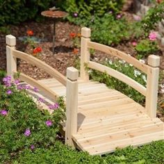 Create your own garden oasis with this 4-Ft Garden Bridge with Railings in Fir Wood. Whether it crosses an actual stream or one made simply of flowers, this bridge will enhance the beauty of your yard