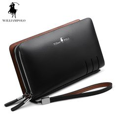 64d1b82d76 Special price WILLIAMPOLO 2017 Fashion Business Design High Capacity  Organizer Wallet Men Clutch Wallet Genuine Leather