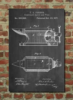 Blacksmith Anvil Poster Blacksmith Anvil Patent door PatentPrints