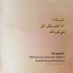 Ben derdimi ve kederimi yalnızca Allah'a arz ederim. Arabic Words, Arabic Quotes, Islamic Quotes, Words Quotes, Love Quotes, Pics For Dp, Cover Photo Quotes, Love Yourself Quotes, English Quotes