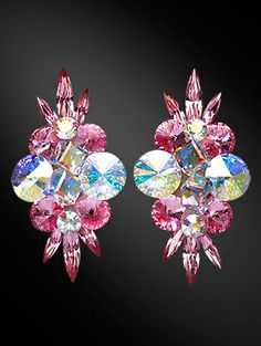 Rhinestone Earring 2050 Jq Dancesport Fashion Danceper Dance Wear Pinterest Ballrooms Ballroom Jewelry And Dancing
