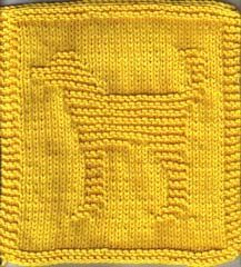 Free Knitting Pattern - Dishclothes & Washcloths : Dougie the Doggy Cloth