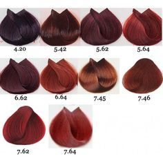 Loreal Majirouge Permanent Hair Color 17 Oz in 2019 Hair loreal red hair color chart - Red Things Magenta Hair Colors, Red Violet Hair, Dark Red Hair, Hair Color Dark, Brown Hair Colors, Red Hair Colour Chart, Color Red, Purple Highlights, Hair Highlights