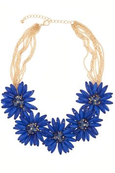Seraphina Cobalt Bloom Necklace  I have 3 new dressy tops that this will look good with !!