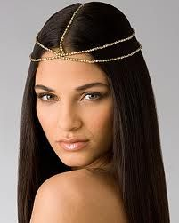 headpiece jewelry - Google Search  My mom would place this on my head instead of the 'crowning' @ my 16
