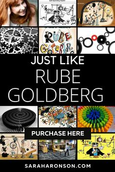 Discover how Rube Goldberg followed his dreams to become an award-winning cartoonist, inventor, and even an adjective in the dictionary in this inspiring and funny biographical picture book. Written by award-winning author Sarah Aronson, JUST LIKE RUBE GOLDBERG: THE INCREDIBLE TRUE STORY OF THE MAN BEHIND THE MACHINES is the perfect picture book for any creative-thinking child. | engineering | science | projects | simple | NGSS | biography | Engineering Science, Science Projects, Simple Machine Projects, The Incredible True Story, Rube Goldberg, Reading Specialist, Kids Writing, Chapter Books, Book Themes