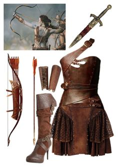 """Female Dothraki Warrior"" by missameliayoung ❤ liked on Polyvore featuring moda, Loewe, KING, InspiredBy, GameOfThrones, dothraki y ASongOfFireAndIce"