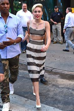 MR. BLASBERG'S BEST-DRESSED LIST: JULY 19TH, 2013 | Who: Miley Cyrus; What: Marc Jacobs; Where:Performing on Good Morning America