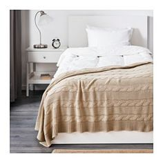 IKEA - URSULA, Throw, beige, Great for the end of the bed.