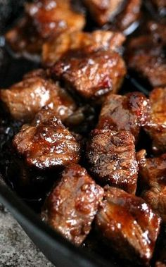 Steak Bites Recipe ~ Steak made into bite sized appetizers... Simple, and utterly delicious!