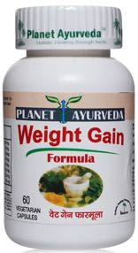 Weight Gain Formula - http://weight-gain-formula.blogspot.in - Planet Ayurveda Weight gain formula is one such natural technique of the company where it blends the traditional herbs like Ashwagandha and others which help to regulate body metabolism and thus gain body weight.