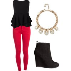 Untitled #4 by loveglenny on Polyvore featuring polyvore, fashion, style, Vero Moda, Pieces, H&M and French Connection