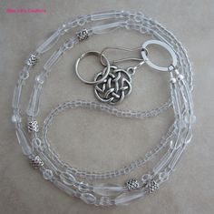 Celtic knot lanyard for your ID badge, transportation pass, keys and more!