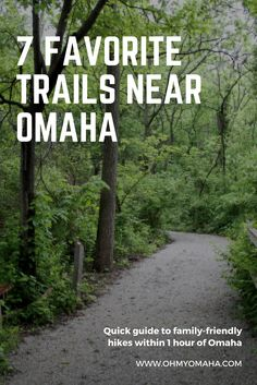 Guide to family-friendly trails near Omaha, including kid-friendly flat paths, accessible trails, and one hike that leads to a waterfall.