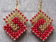 The Beading Gem's Journal: Want Something Different? 3 Beaded Earrings Tutori...